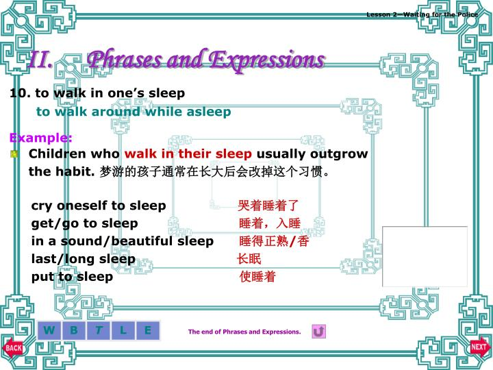 Phrases and Expressions