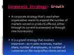 corporate strategy growth