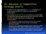 ii business or competitive strategy con t1