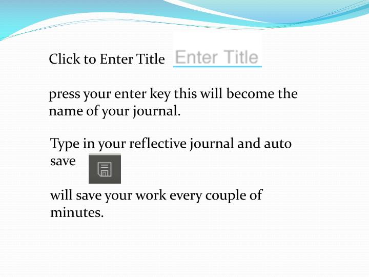 Click to Enter Title