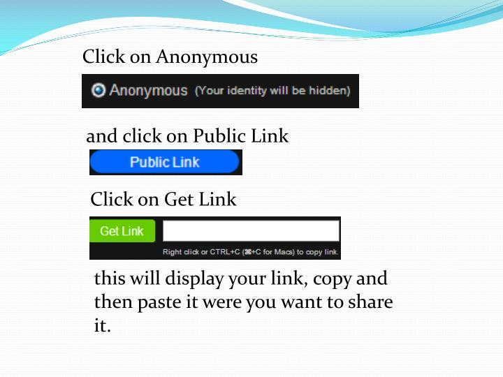 Click on Anonymous