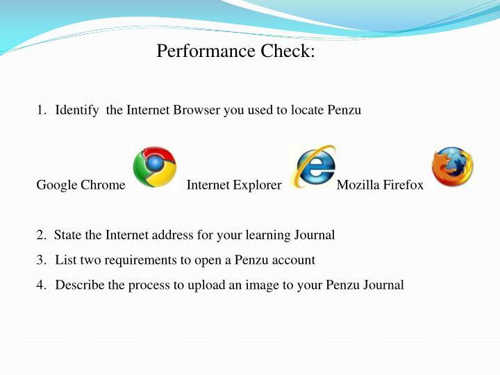 Performance Check:
