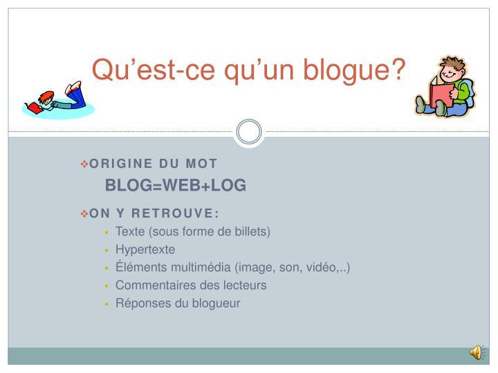 Qu est ce qu un blogue