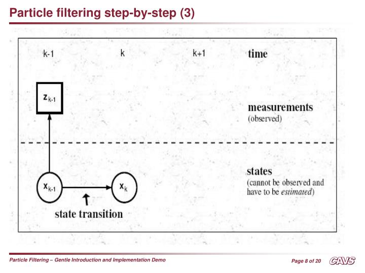 Particle filtering step-by-step (3)