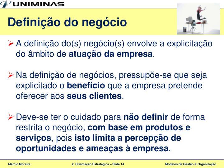 Definição do negócio