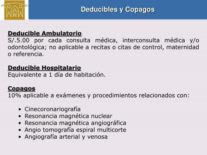 Deducibles y Copagos