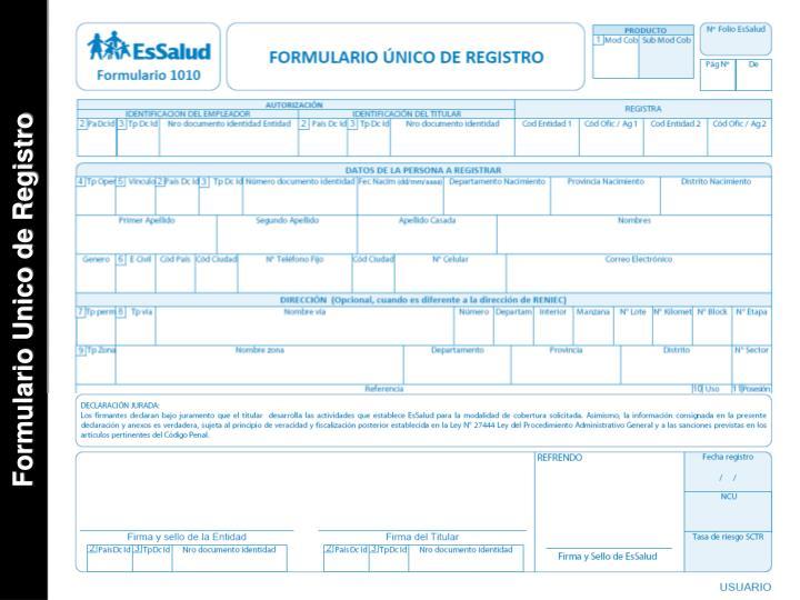 Formulario Unico de Registro
