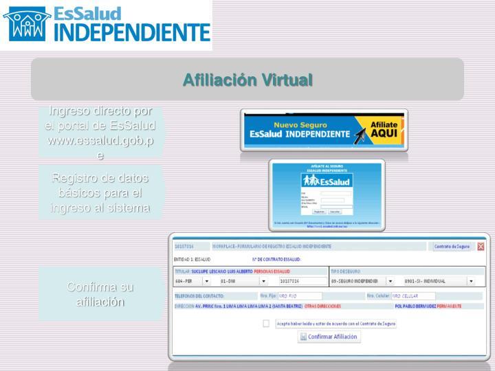 Afiliación Virtual