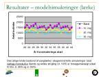 resultater modelsimuleringer l rke