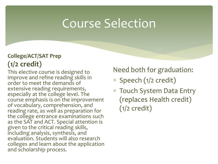 Course Selection