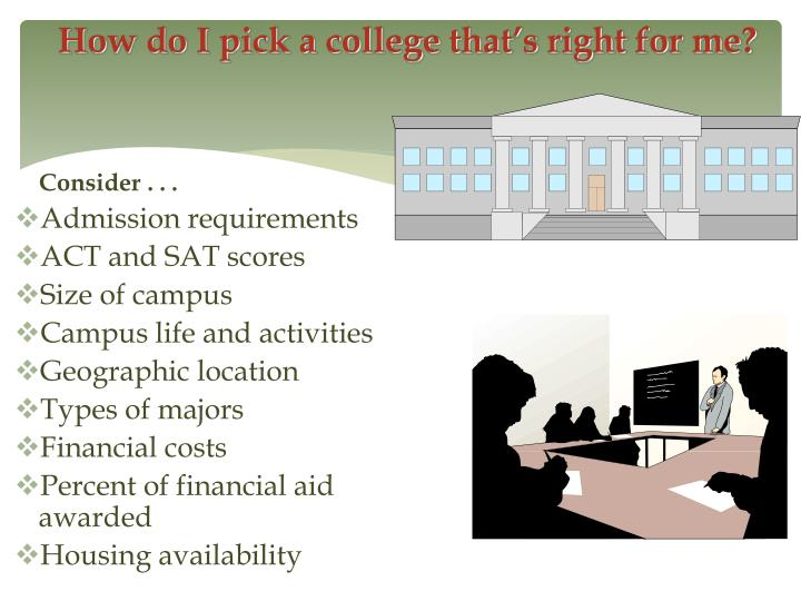 How do I pick a college that's right for me?