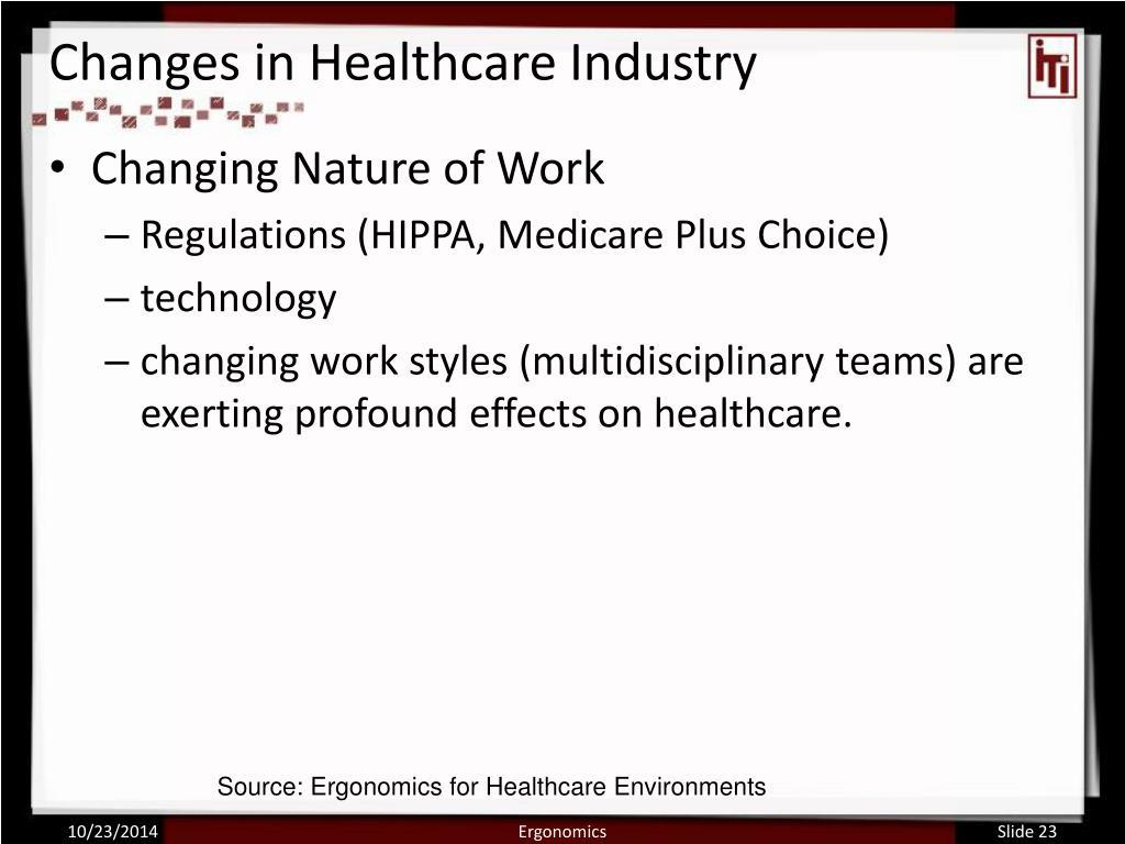 ergonomics does not change the nature of the job true or false