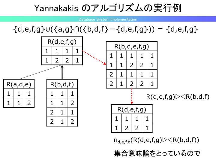 Yannakakis