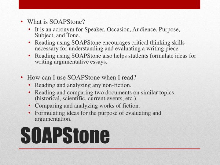 soapstone subject example