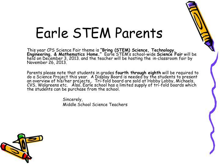 Earle stem parents