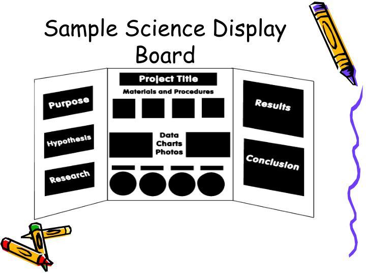 Sample Science Display Board