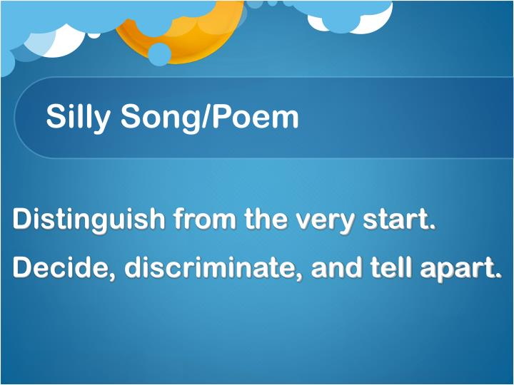 Silly Song/Poem