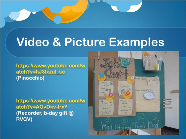 Video & Picture Examples