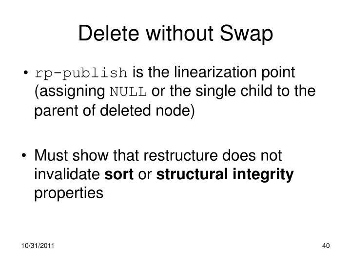 Delete without Swap