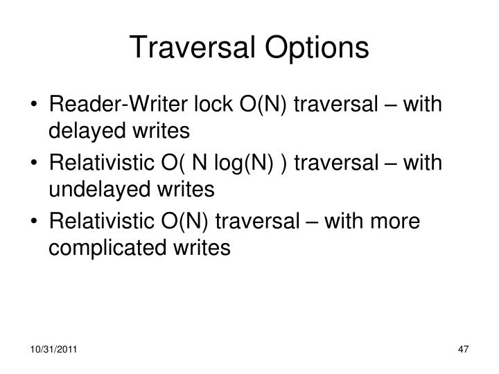 Traversal Options