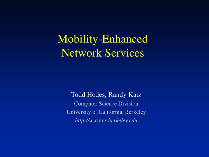 mobility enhanced network services n.