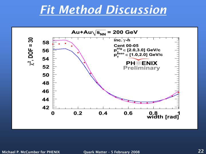 Fit Method Discussion