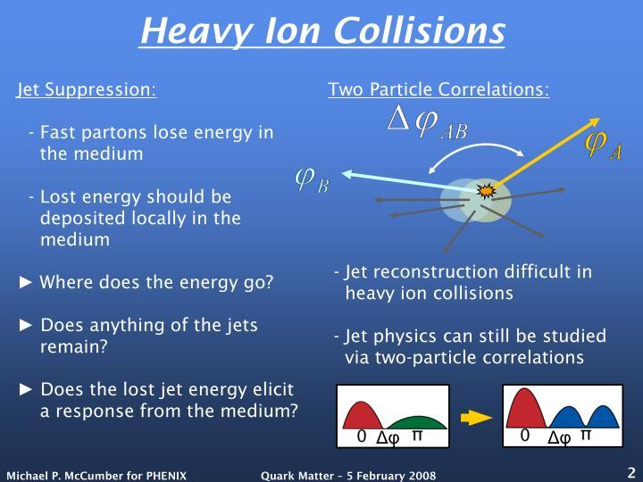 Heavy ion collisions