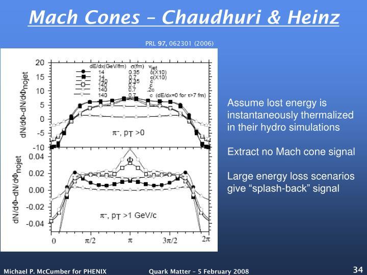 Mach Cones – Chaudhuri & Heinz