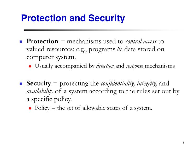 protection and security n.