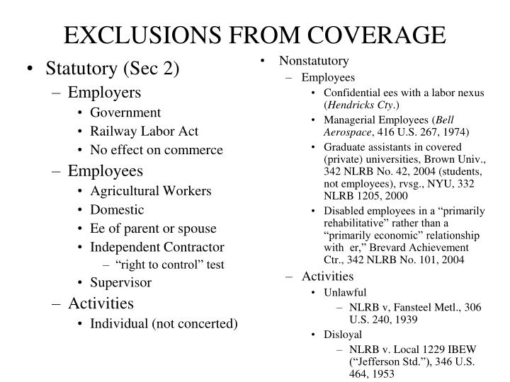 exclusions from coverage n.