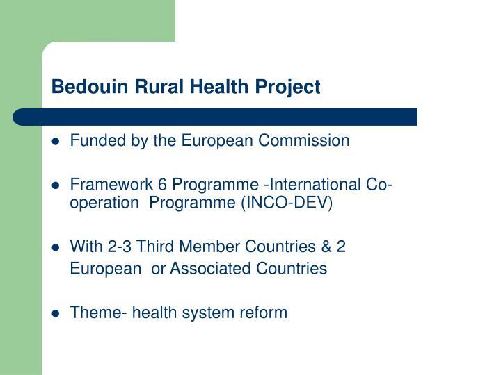 Bedouin rural health project