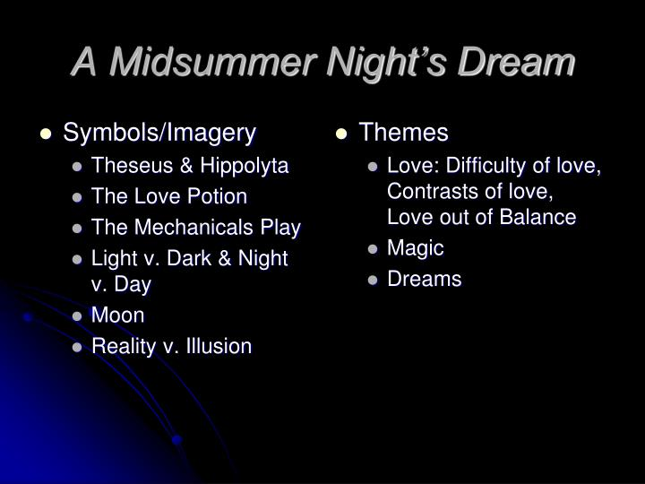 Ppt A Midsummer Nights Dream Powerpoint Presentation Id5783190