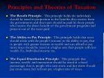 principles and theories of taxation