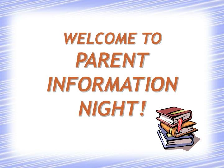 welcome to parent information night n.