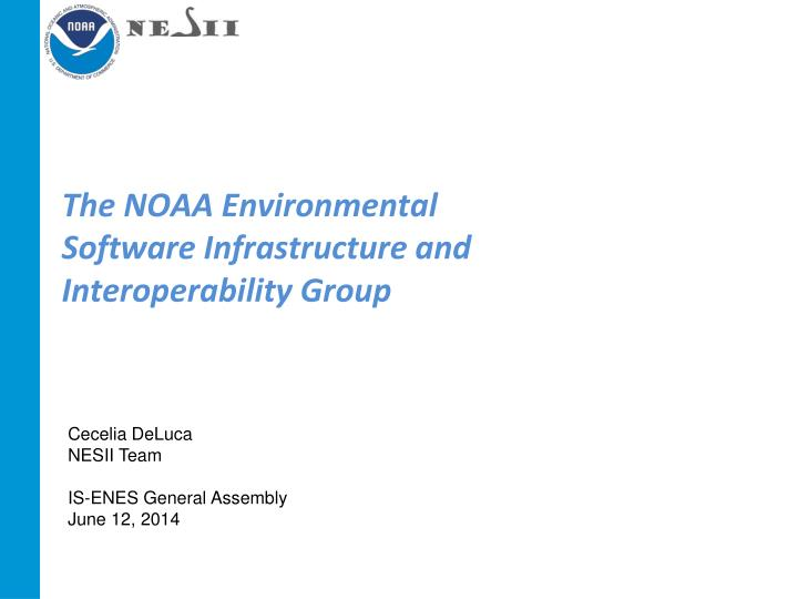 the noaa environmental software infrastructure and interoperability group n.
