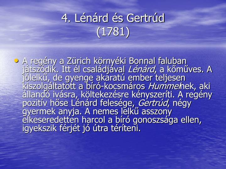4. Lénárd és Gertrúd