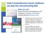 state comprehensive cancer coalitions can play key role promoting qol