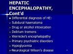 hepatic encephalopathy cont d1