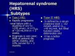 hepatorenal syndrome hrs subtypes