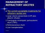 management of refractory ascites