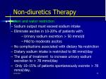 non diuretics therapy