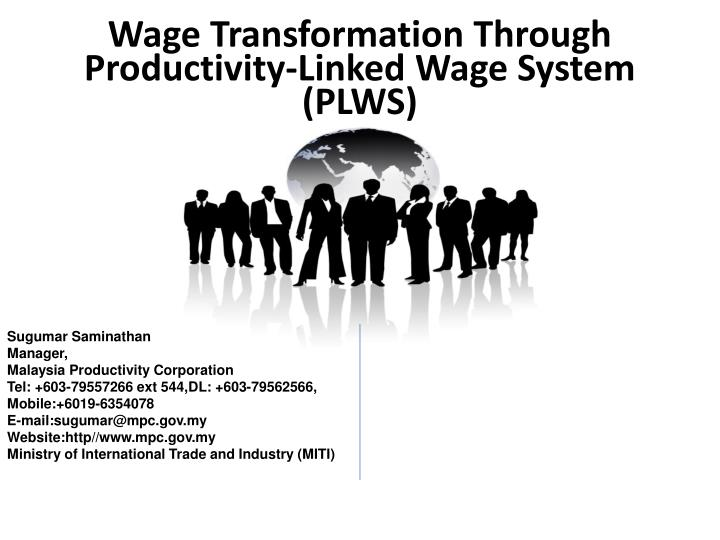 wage transformation through productivity linked wage system plws n.