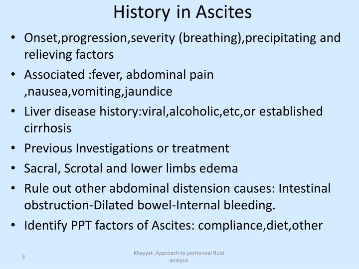 History in ascites
