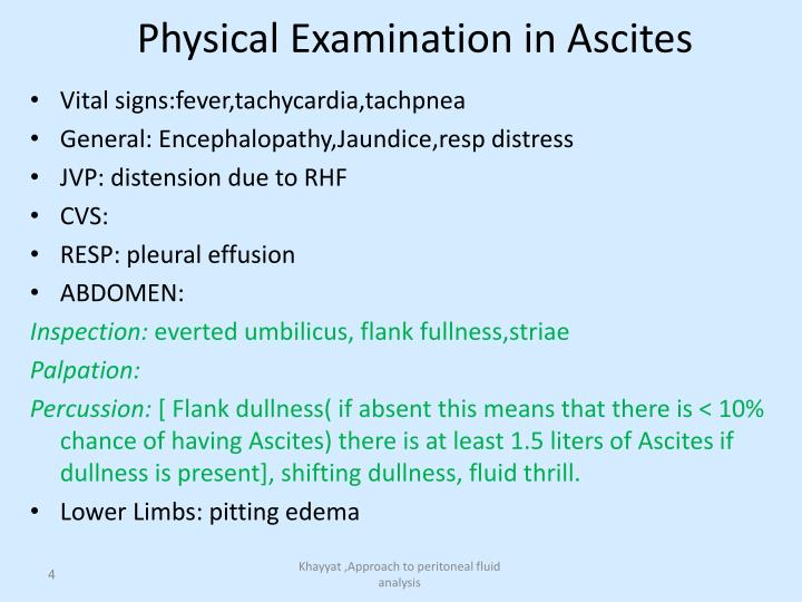 Physical Examination in Ascites