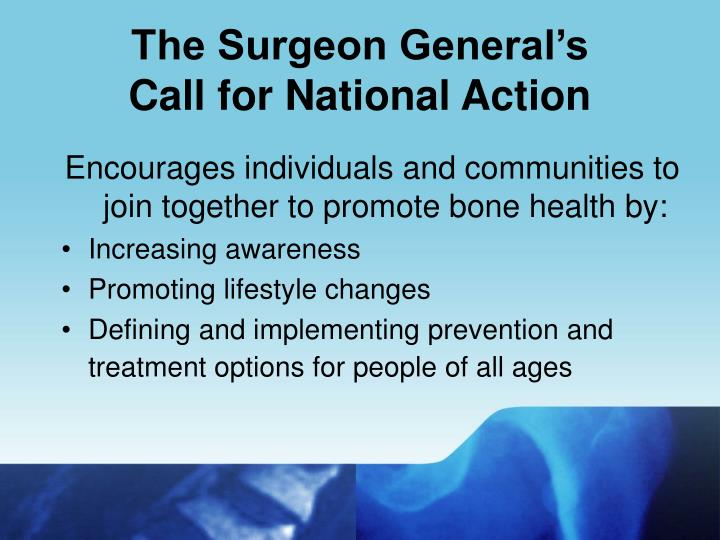 The Surgeon General's