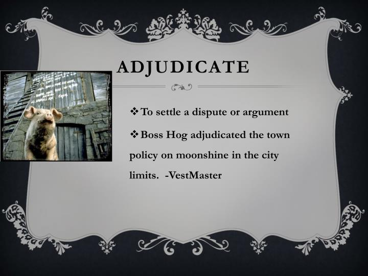 ADJUDICATE