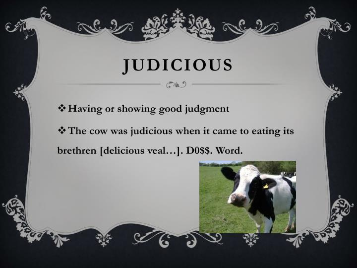 Judicious