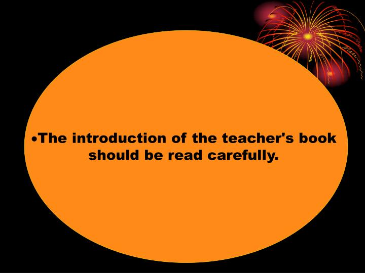 The introduction of the teacher's book