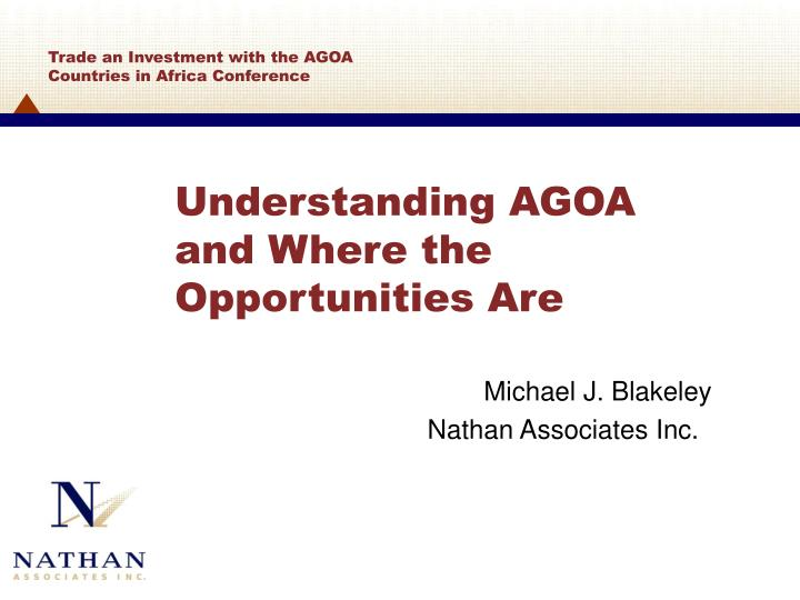 understanding agoa and where the opportunities are n.