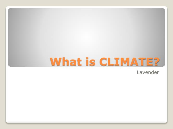 what is climate n.
